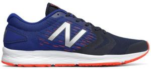 Niebieskie buty sportowe New Balance w sportowym stylu sznurowane