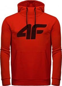 Czerwona bluza darcet w młodzieżowym stylu z dresówki