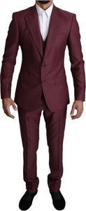 Czerwony garnitur Dolce & Gabbana