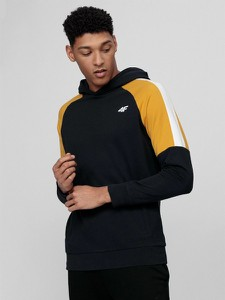 Czarna bluza 4F w sportowym stylu z bawełny