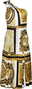 Sukienka Versace z okrągłym dekoltem maxi