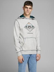 Bluza Jack & Jones z nadrukiem z bawełny