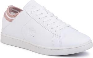 Buty sportowe Lacoste z płaską podeszwą sznurowane