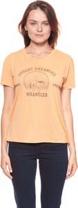 Bluzka Wrangler w stylu casual z okrągłym dekoltem