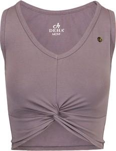 Top Deha z bawełny w stylu casual z dekoltem w kształcie litery v
