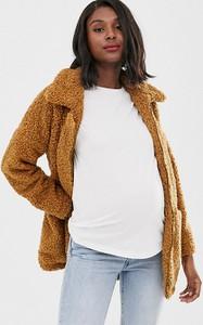 Brązowy płaszcz Mama Licious