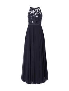 Granatowa sukienka V.m. z satyny maxi