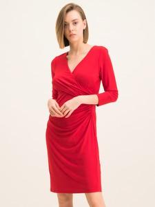Czerwona sukienka Ralph Lauren mini kopertowa