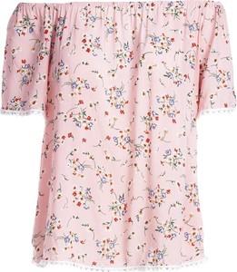 Różowa bluzka Multu z krótkim rękawem