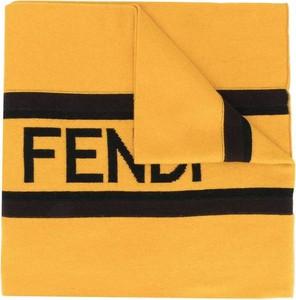 Żółty szal męski Fendi