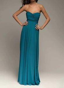 Niebieska sukienka Sandbella maxi z dekoltem w kształcie litery v