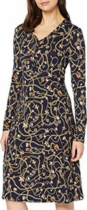 Sukienka amazon.de w stylu casual z dekoltem w kształcie litery v z długim rękawem