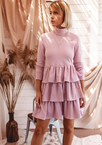 Sukienka Latika mini z długim rękawem wyszczuplająca