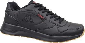 Czarne buty sportowe Kappa ze skóry