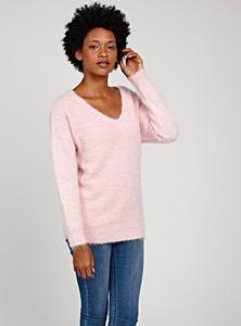Różowy sweter Gate w stylu casual