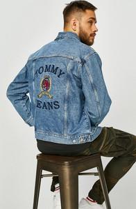Niebieska kurtka Tommy Jeans z bawełny w młodzieżowym stylu
