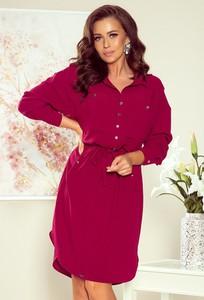 Czerwona sukienka N/A koszulowa