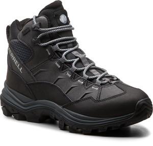 Buty trekkingowe Merrell z nubuku w sportowym stylu sznurowane