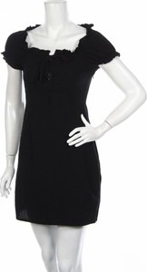 Czarna sukienka Nasty Gal z okrągłym dekoltem z krótkim rękawem mini