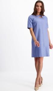Niebieska sukienka Lavard z wełny