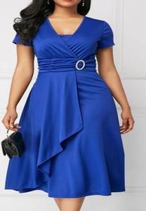 Sukienka Elegrina z krótkim rękawem z bawełny