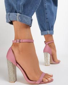 Różowe sandały renee ze skóry ekologicznej