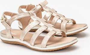 Sandały Geox z klamrami w stylu casual z płaską podeszwą