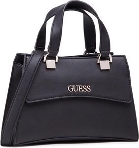 Czarna torebka Guess do ręki ze skóry matowa