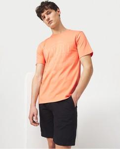 Pomarańczowy t-shirt O'Neill z bawełny