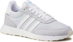 Buty sportowe Adidas z zamszu z płaską podeszwą sznurowane