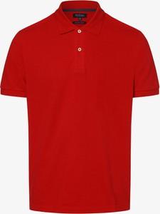 Czerwona koszulka polo Mc Earl z krótkim rękawem z bawełny