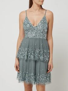 Sukienka Lace & Beads z dekoltem w kształcie litery v z tiulu na ramiączkach