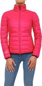 Różowa kurtka Emporio Armani krótka w stylu casual