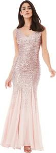 Złota sukienka stylovesukienki w stylu glamour rozkloszowana maxi