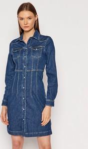 Sukienka Pepe Jeans z długim rękawem mini koszulowa