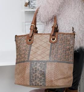 Brązowa torebka madamrock.pl w stylu casual
