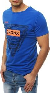 Niebieski t-shirt Dstreet z nadrukiem