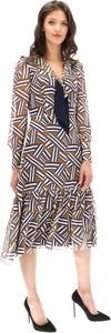 Sukienka Lavard z tkaniny midi w stylu casual