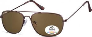 Stylion Meskie okulary pilotki Montana MP93D brazowe polaryzacyjne