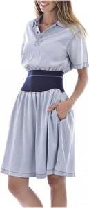 Niebieska sukienka Diesel mini z krótkim rękawem w stylu casual