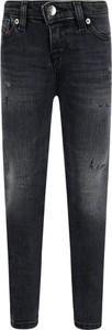Czarne jeansy dziecięce Diesel