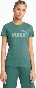 T-shirt Puma z okrągłym dekoltem z bawełny w sportowym stylu