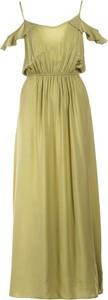 Zielona sukienka Multu na ramiączkach maxi