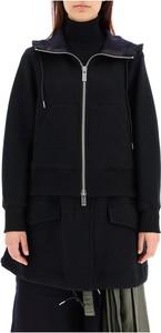 Czarna kurtka Sacai w stylu casual długa
