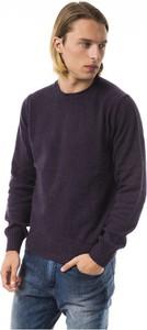 Fioletowy sweter Uominitaliani z wełny