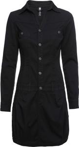 Czarna sukienka bonprix RAINBOW koszulowa w stylu casual
