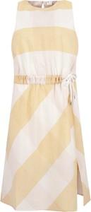 Sukienka BOSS Casual w stylu casual midi bez rękawów