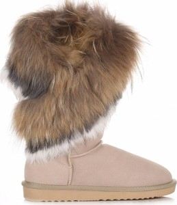 Śniegowce Crystal Shoes ze skóry