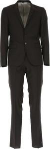 Czarny garnitur Simbols z wełny