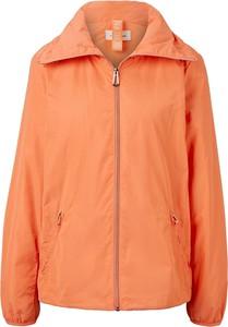 Pomarańczowa kurtka Tom Tailor w stylu casual krótka
